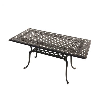 """Blanca 21""""x 42"""" Coffee Table. Available in an antique bronze finish."""