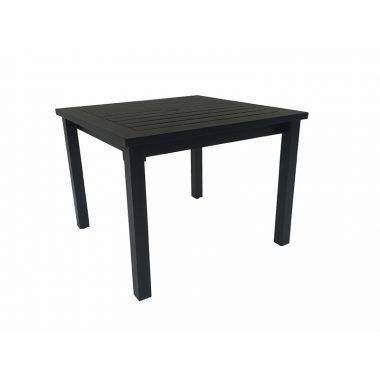 "Cabana 38""x38"" Square Table - Textured Black"