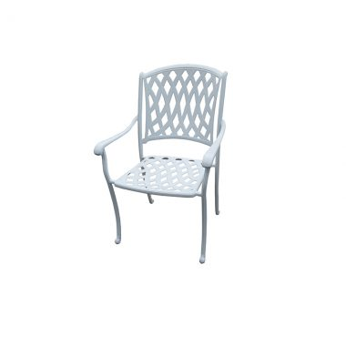 Dining Chair (combi tube/cast) White
