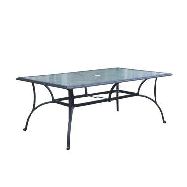 "72"" x 42"" Rectangular Table (inlaid glass)"