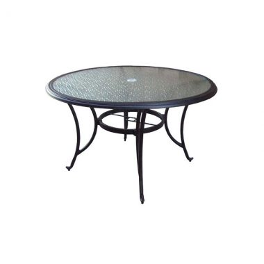 """48"""" Round Table (inlaid glass)"""