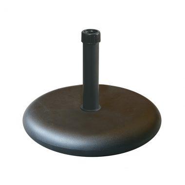"55lbs (25kgs) 19"" Round base (black steel neck)"