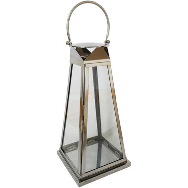 "Stainless Steel 24"" Tapered Lantern"